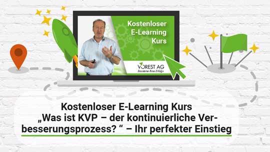 Banner gratis E-Learning Kurs KVP - Kontinuierlicher Verbesserungsprozess